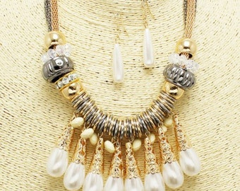 Gold Plated Tear Drop Necklace set