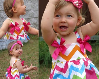 Rainbow Pinafore ruffles with bloomers