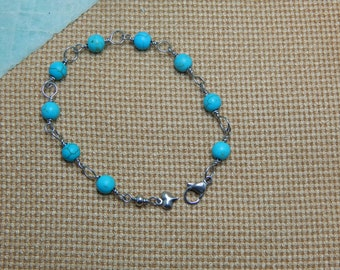 turquoise bracelet and stainless steel
