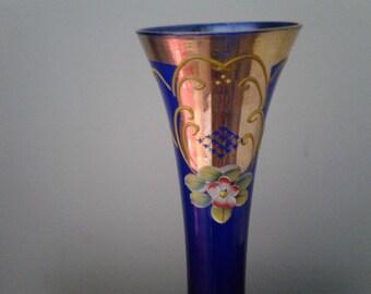 Cobalt Blue Vase c. Late 19th Century/early 20th Century