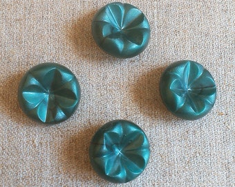 4 Vintage Buttons, Decorative buttons, Green buttons, Plastic buttons, Stock Buttons, Old Buttons, Retro buttons, fashion buttons
