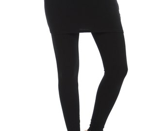 Women's Skirted Leggings - Black Made In USA S/M/L/XL , 1XL/2XL/3XL