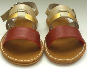 Children Leather Girls Sandals