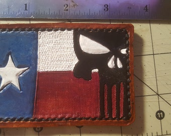 Leather Texas / Punisher patch