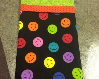 Smiley face pillow case