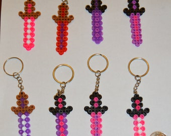 Minecraft Sword keychain party pack (Girl set) - Set of 8