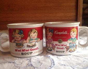 Campbells soup mugs 1993, set of two