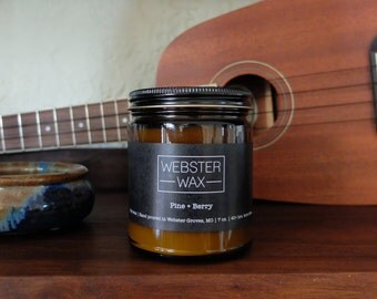 Pine + Berry | 7 oz. hand poured 100% Soy wax candle