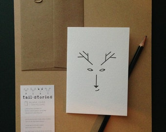 DEER the postcard one of a kind from the Tail•Stories family