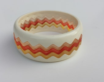 Vintage Zig Zag (Chevron) Bangle Bracelet