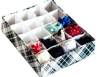 Free Shipment! Classic Panties Organizer, Lingerie Storage, Underwear Storage Boxes for panties, bras, socks, tights. Drawer organizer