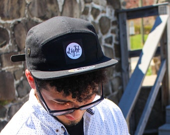 Light Apparel Black Five Panel Hat