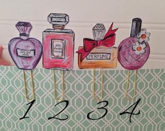 Planner Clips paper clips 3-D perfume bottles