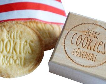 Cookie stamp engraving delete cookies acrylic wood