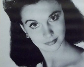 Vivien Leigh 22x28 Gone With The Wind B&W Poster