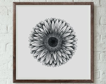 Gerbera - Fine Art Digital Giclee Print