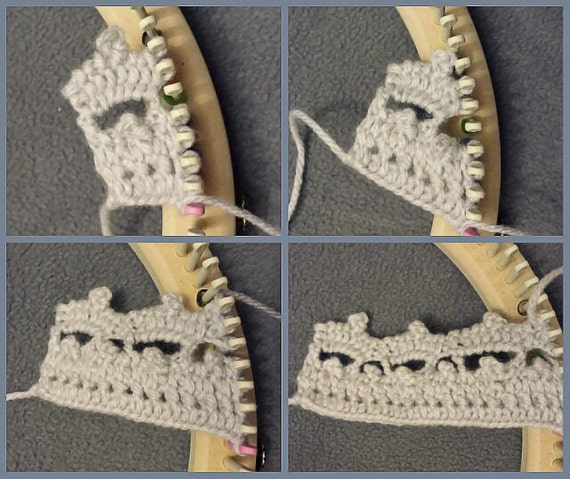 Lace Loom Knitting Patterns : LOOM KNITTING PATTERNS Tiara Loom Lace Embellishment / Loom