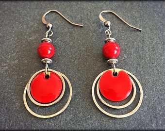 All round earrings