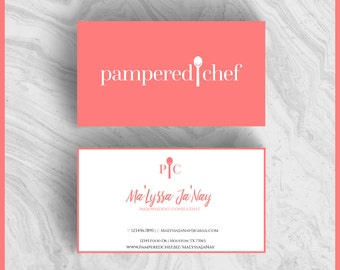 Pampered chef business cards pictures to pin on pinterest thepinsta pampered chef etsy 340x270 colourmoves Images