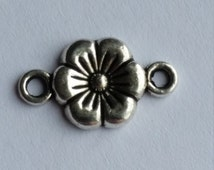 Flower Connector, Jewellery Connector, Jewelry Connector, Flower Findings, Silver Connector, Flower Charm, Flower Pendant,