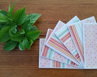 Greeting cards (set of 6) - Spots and Stripes