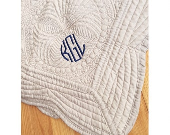 Quilted Monogrammed Baby Blanket