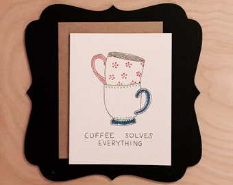 Thinking of you coffee lovers card