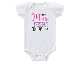 Little Miss Perfect Onesie Bodysuit for Infant, Baby Shower Gift