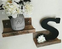 Mini Reclaimed Pallet Shelves (set of 2), Decorative Shelves, Shelf Ledge