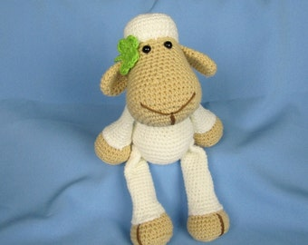 Sheep stuffed toy with rattle inside - organic cotton