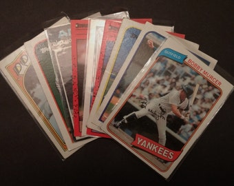 Vintage Basball Cards, Lot of 25