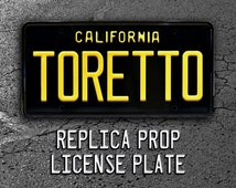 The Fast and the Furious / Dodge Charger / TORETTO *Metal Stamped* Vanity License Plate