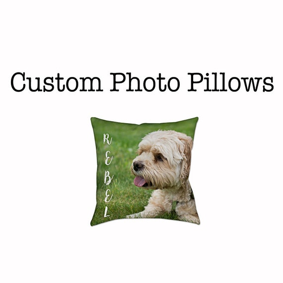 Custom Photo Pillow - Your Photo on Pillows - Pet Children or Family Photos on Pillow - Custom Gifts - Christmas Gifts - Gifts for Mom