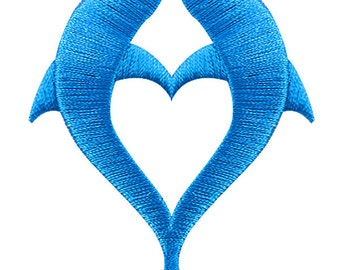 Dolphin Heart Embroidery Design