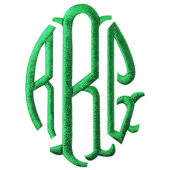 Items similar to grateful monogram embroidery fonts on etsy