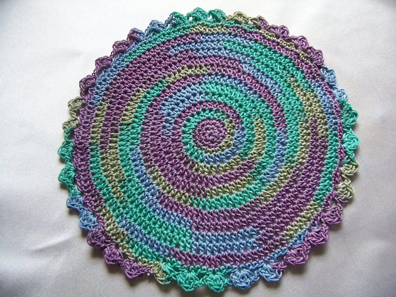 Star Wars Crochet Doll Pattern : Miniature Rug-Crochet Rugs-Dollhouse Rug-Varigated Lavender