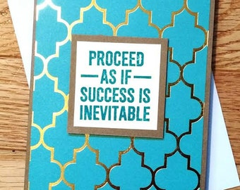 Encouragement card, Encouragement gift, success card, You can do it card, 1st day of school, New job card, homemade card, greeting card