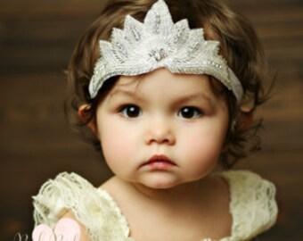 Baby headbands,1st Birthday Crown, Crystal crown headband,Baby crown headband,Princess Crown Headband, Baby Headband, Baby Birthday headband