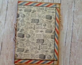 Travel Journal. Handmade Envelope Junk Journal.