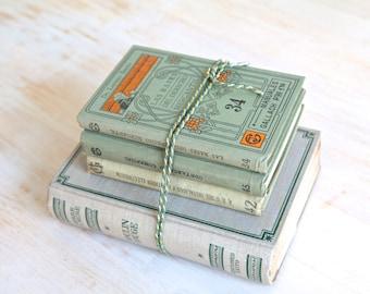 Vintage Books, Decorative Books, Art Nouveau Books, Books Set, Antique Books, Wedding Table Decorations