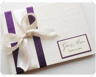 Perfectly Plum and Ivory Customized Guest Book