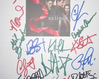 Twilight Eclipse Signed Film Movie Script Screenplay X20 Taylor Lautner Kristen Stewart Peter Facinelli Robert Pattinson Nikki Reed Burke