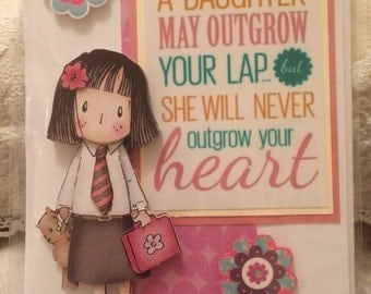 Handmade card for mothers & daughters
