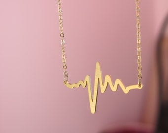 Heartbeat, cool heartbeat captured in a necklace, I can feel your heart beat pendant