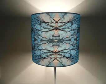 Blue Branches Lamp Shade