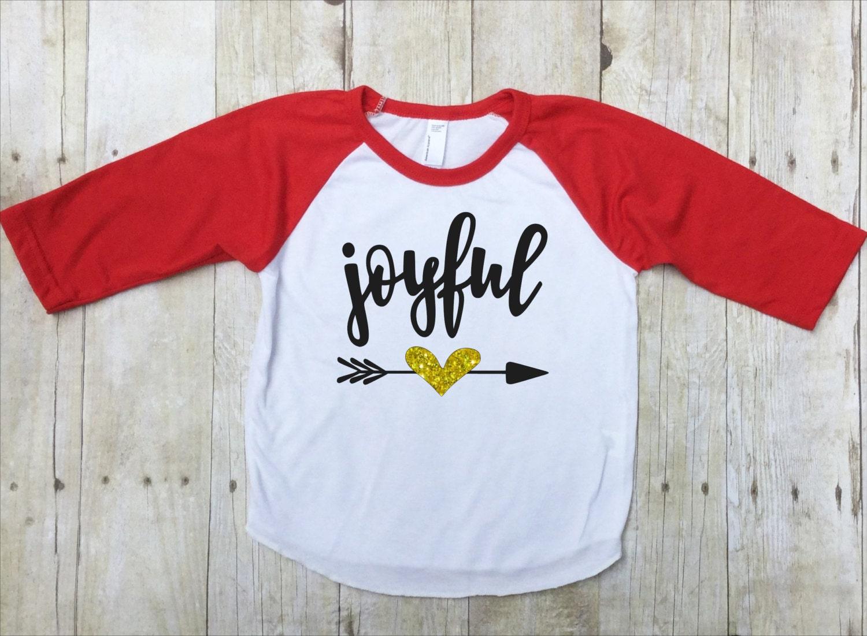 Christmas Joyful Shirt Christmas Joy Shirt Kids Christmas