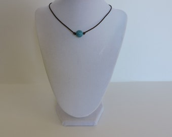 Turquoise Choker Bead Necklace