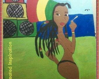 Rasta Ooman Painting