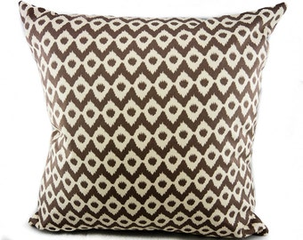 Indoor Pillow, Coffee Bean Fabric Pillow Cover. Camelot Design Studio for Camelot Fabrics
