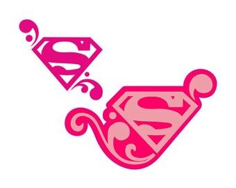 Girl superman logo - superman clipart for girl - superman logo svg, dxf, eps